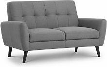 Honcho 2 Seater Compact Sofa Grey Linen Fabric