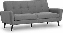 Honcho 3 SeaterCompact Sofa Grey Linen Fabric
