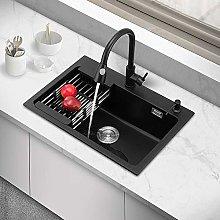 HoneLava Kitchen Sinks Dishwashing Quartz