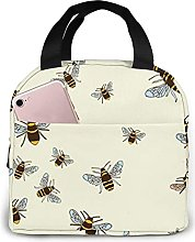 Honey Bee Printed Insulated Lunch Bag for Women