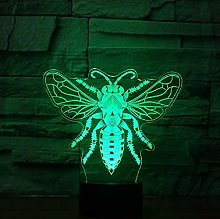 Honeybee 7 Color Changing Night Light Collectible