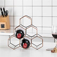 Honeycomb wine rack multi-format design decoration