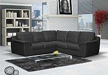 Honeypot - Sofa - Amy - Black - Faux Leather Large