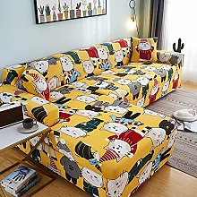 HONG 2 Pieces Sofa Cover for L-Shape Sectional