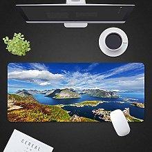 HONG Large Gaming Mouse Pad, Landscape Mice Mat,