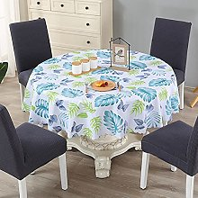 HONG PVC Tablecloth Round Table, Covered With