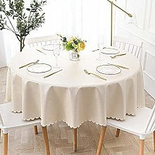 HONG PVC Tablecloth Round Table, Light Luxury