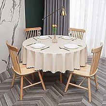HONG PVC Tablecloth Round Table, Rural Printing