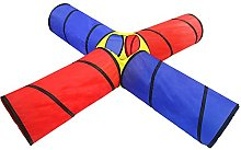 Hong-wei Play tent Kids Play Tube, 4-way Tunnel