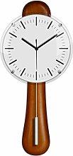 hongbanlemp Decor Clock Mahogany Solid Wood Wall