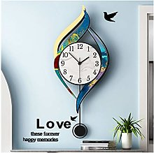hongbanlemp Decor Clock Modern Decorative Wall