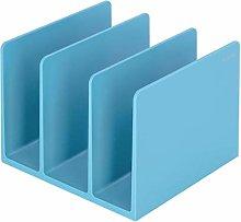 hongbanlemp Desk Organizer Blue Book Clip Folder