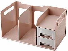 hongbanlemp Desk Organizer Blue Multi-layer Folder