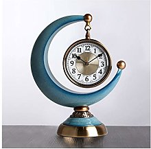 hongbanlemp Table Clock Crescent Clocks Creative