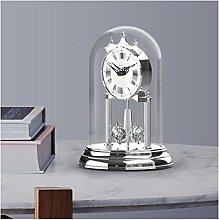 hongbanlemp Table Clock European Crystal Rotating