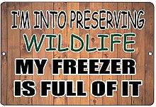 HONGXIN My Freezer is Full of It Metal Signs Wall