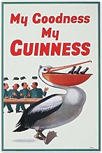 HONGXIN My Goodness My Guinness Metal Signs Wall