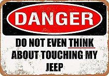 HONGXIN Touching My Jeep Metal Signs Wall