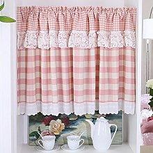 HongYa Checked Kitchen Curtain, Net Curtain,