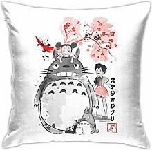 HONGYANW My Neighbour Totoro Sumie Pillowcase,