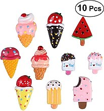 HONGYMY Fridge magnet 10pcs Dessert Fridge Magnet