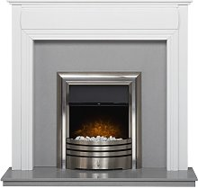 Honley Surround in Pure White & Sparkly Grey