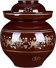 Honoen Traditional Fermentation Pottery Pot Jar,