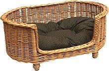 Honora Pet Bed Basket Settee in Brown Archie &