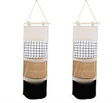Honton 2 PCS Hanging Storage bags Storage Bag Wall