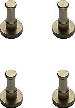 Honton 4 PCS Bathrobe Hooks Aluminium Door Hooks