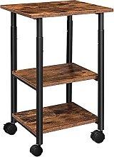 HOOBRO Mobile Printer Stand, 3-Tier Printer Cart