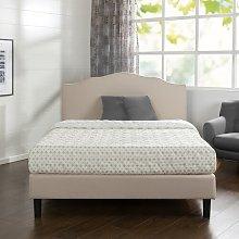 Hoopeston Scalloped Upholstered Bed Frame Blue