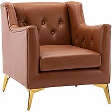 HOPUBO Black/Brown, Single Sofa Chair, Simple and