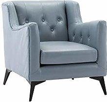 HOPUBO Blue/White, Single Sofa Chair, Simple and