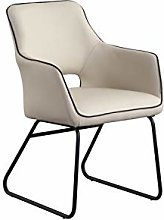 HOPUBO Brown/White Single Casual Armchair, Soft