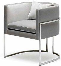 HOPUBO Casual Small Sofa Chair, Minimalist Metal