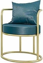 HOPUBO Gold Border Single Sofa, Simple Border