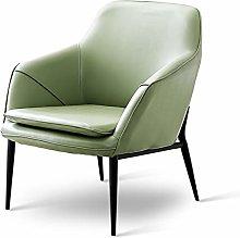 HOPUBO Gray/Green PU Leather Small Sofa, Simple