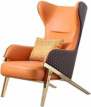 HOPUBO Leather Single Sofa Chair, Leisure Lazy