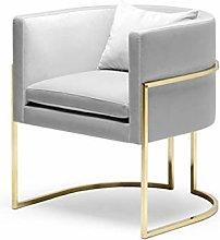 HOPUBO Leisure Small Sofa Chair, Simple Metal