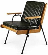 HOPUBO Retro Leather Sofa Chair, Simple Craft