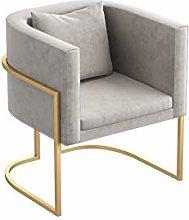 HOPUBO Simple Frame Single Sofa, Gold Frame Single