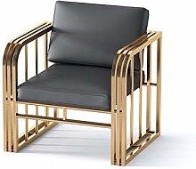 HOPUBO Soft Leather Single Sofa Chair, Modern