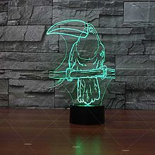 Hornbill Model Led 3D Desk Table Lamp Decoration