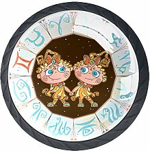 Horoscope for Children 4 PCS Crystal Clear Glass