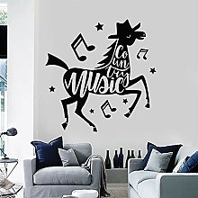 Horse Creative Wall Decal Country Music Notes