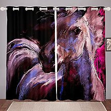 Horse Curtain for Bedroom Children Galloping Horse