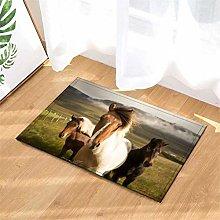 Horse In The Farm. Door Mat Front Door Carpet