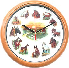 Horse & Pony Wall Clock with Ruane Manning