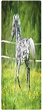 Horse Runner Rug, 1.3'x4', Running